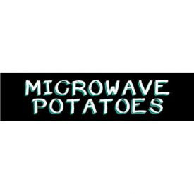 Microwave Potatoes Grocery Signs (2-Track Chalk Art Insert) by