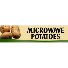 Microwave Potatoes Grocery Signs (2-Track Fresh Look Photo Insert) by