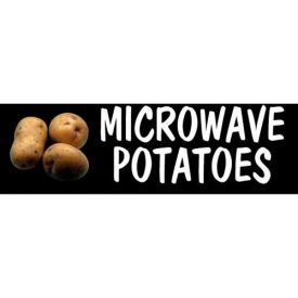 Microwave Potatoes Grocery Signs (2-Track Photo Real Insert) by