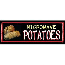 Microwave Potatoes Grocery Signs (3-Track Chalk Art Insert) by