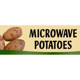 Microwave Potatoes Grocery Signs (3-Track Fresh Look Photo Insert) by