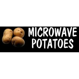 Microwave Potatoes Grocery Signs (3-Track Photo Real Insert) by