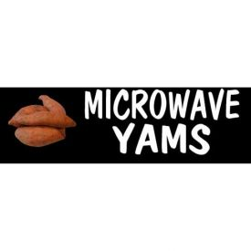 Microwave Yams Grocery Signs (2-Track Photo Real Insert) by