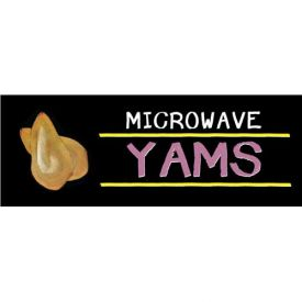 Microwave Yams Grocery Signs (3-Track Chalk Art Insert) by