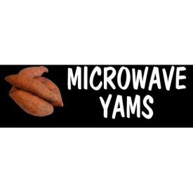Microwave Yams Grocery Signs (3-Track Photo Real Insert) by