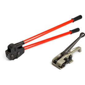 """Teknika Tool Set for PET/Plastic Strapping for 3/4"""" Strap, MUL-320 Tensioner & MUL-381 Sealer by"""