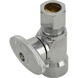 "Keeney 2059pclf, Quarter Turn Straight Valve 1/2"" F.I.P. X 1/2"" O.D. Outlet, Lead Free - Pkg Qty 12"
