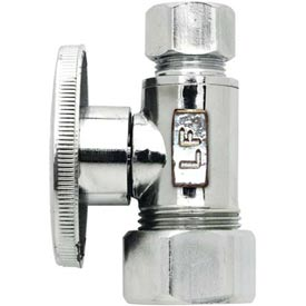 "Keeney 2068pclf, Quarter Turn Straight Valve 5/8"" O.D. X 3/8"" O.D. Compression, Lead Free - Pkg Qty 24"