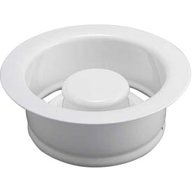 Keeney K5417wh, Garbage Disposal Replacement Flange & Stopper, White Package Count 2 by