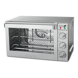 Waring WCO500X Convection Oven Half Size 3 Racks Drip Tray by