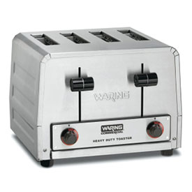 Waring WCT800RC Toaster, Heavy Duty, Stainless Steel 4 Slice by