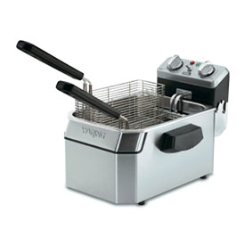 Click here to buy Waring WDF1550 Deep Fryer, Countertop, Heavy Duty, 15 Lb. Capacity, 240V.