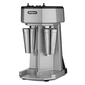 Waring WDM240 Milk Shake Mixer, Double Spindle, 3 Speed, with 2 Stainless Steel Cups 120V by