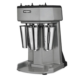Waring WDM360 Milk Shake Mixer, Triple Spindle, 3 Speed, with 3 Stainless Steel Cups 120V by