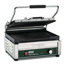Waring WPG250 Panini Grill Ribbed, 120V by