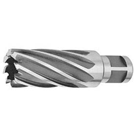 "HSS Annular Cutter, 9/16"" D, .284"" I.D. for 2"" Depth of Cut, 4 Flutes x 3/4"" Sh D, 2 Shank Flats"