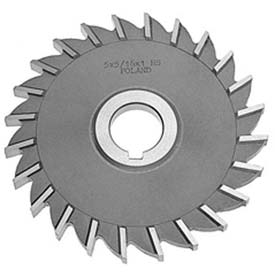 "HSS Import Plain Teeth Side Milling Cutter, 5"" DIA x 1"" Face x 3/32x1"" Hole"