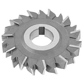 """HSS Import Staggered Tooth Side Milling Cutter, 4"""" DIA x 1/4"""" Face x 1"""" Hole x 18 Teeth"""