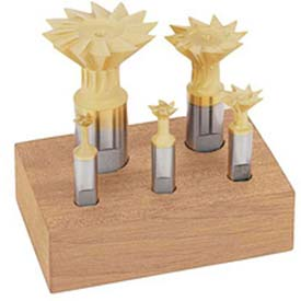 Cobalt Import M-42 Dovetail Cutter, 5 Piece. Set 3/8-1.7/8 45 °