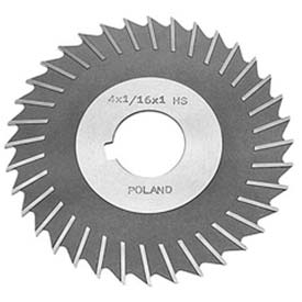 "HSS Import Metal Slitting Saw Plain Teeth, Side Chip Clear, 4"" DIA x 9/64"" Face x 1-1/4"" Hole"