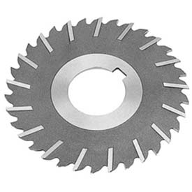 """HSS Import Metal Slitting Saw Staggered, Side Chip Clear, 4"""" DIA x 1/4"""" Face x 1-1/4"""" Hole"""