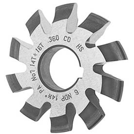 HSS Imported Involute Gear Cutters, 20 ° Pressure Angle , Metric, Module M4.5 8 Pc Set