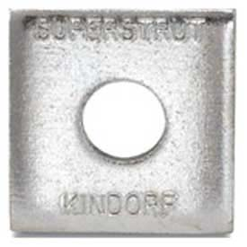 """Superstrut 3/8"""" Steel Square Washer AB241 3/8EG, Silvergalv Finish by"""