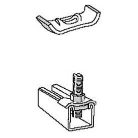 Superstrut Steel Square Washer AB242EG, Silvergalv Finish by