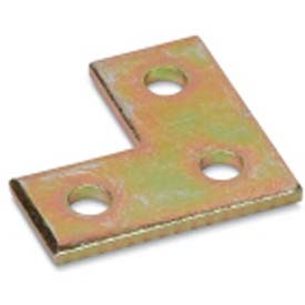 Kindorf B961 Three Hole Steel Flat Plate Connector W/Galv-Krom® Finish