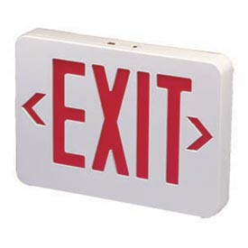 Buy Emergi-Lite ELXN400R-N Thermoplastic Exit Sign Red LED, AC & Battery Backup