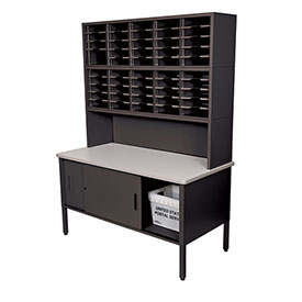 Marvel 50 Slot Literature Organizer with Riser and Cabinet Black by