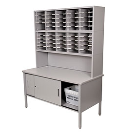 Marvel 50 Slot Literature Organizer with Riser and Cabinet -Slate Gray by