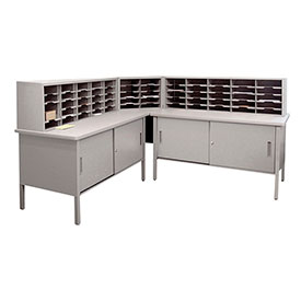 Marvel 60 Slot Literature Organizer with Cabinet Slate Gray by