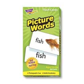 "Trend® Picture Words Flash Cards, 3"" x 6"", 96 Cards/Box"