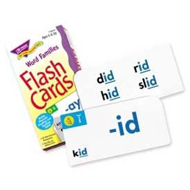 Trend® Word Families Flash Cards, 96 Cards/Box
