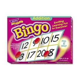 Trend® Addition Bingo Game, Age 6 & Up, 3 to 36 Players, 1 Box