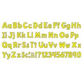 """Trend® 4"""" Playful Combo Ready Letters, Yellow, 1 Set"""