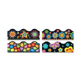 Trend® Brights on Black Terrific Trimmers Variety Pack, 156' Long, 1 Pack