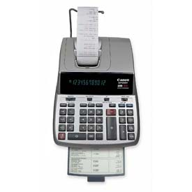 """Canon 12-Digit Calculator, MP25DVS, 2 Color Printing, 8-3/4"""" X 12-2/3"""" X 3-2/3"""", Silver by"""