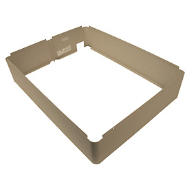 TPI Fan Forced Wall Heater Surface Mounting Frame 3310EX33R Ivory