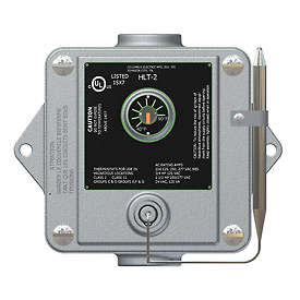 TPI Remote Mounted Thermostat HLT-2 Double Pole Double Throw Capillary 120-277V 40-110°F