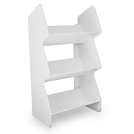 """TrippNT™ 51013 Small Tilted Safety Shelf, 12""""W x 8""""D x 22""""H, White"""