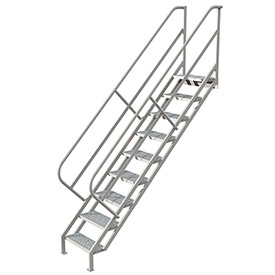 9 Step Industrial Access Stairway Ladder, Perforated - WISS109246