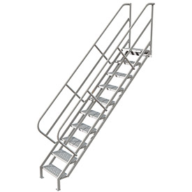 10 Step Industrial Access Stairway Ladder, Perforated - WLIS110246