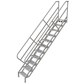 11 Step Industrial Access Stairway Ladder, Perforated - WISS111246