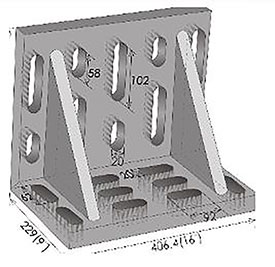 """Imported Swivel Angle Plate 15"""" x 9"""" x 12"""""""