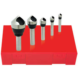 Made in USA HSS Zero Flute Countersink & Deburring Tool Set 82° #0 #4 by