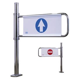 Crowd Control Turnstiles Self Closing Swing Gate W Left Handed Exit Mirror Chrome