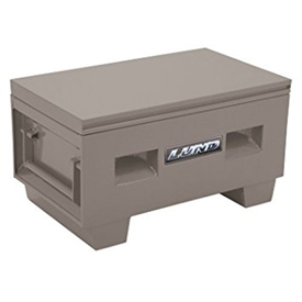 "Heavy-Duty Small 32"" Job Site Box, Steel, Gray 08036G"