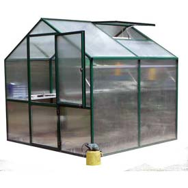 "Rose 2 Greenhouse, Aluminum & Polycarbonate, 54Sq/Ft, 7'L X 7' 8""W X 7'H, Green by"